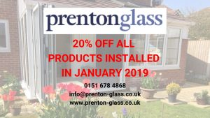 20% Discount available for January Installations from Prenton Glass