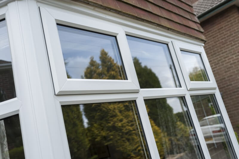 white double glazed upvc window